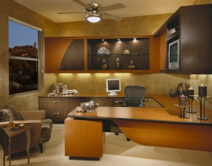 Custom Home office by Sandella Interiors