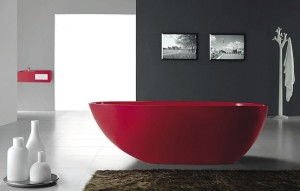Red Free Standing Tub