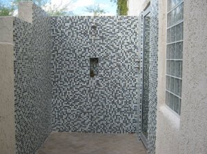 """outdoor shower after remodel"""