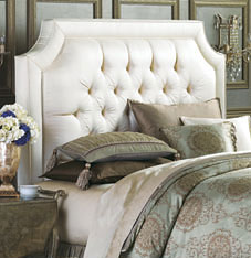 Home decorating all about headboards sandella custom for Do it yourself headboards with fabric